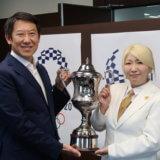鈴木未来選手がスポーツ庁表敬訪問!鈴木大地長官もダーツに挑戦される!