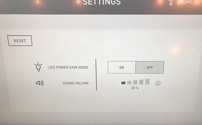 以下の画面ではサウンド設定を20%に変更してみました!